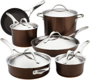 Anolon Nouvelle Nonstick Cookware Pans Set