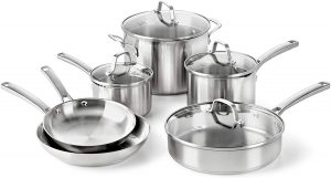 Calphalon's Stainless Steel Cookware Set