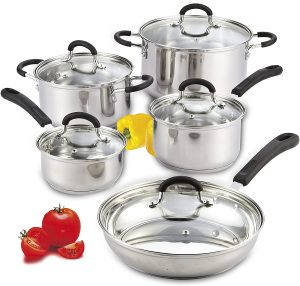 Cook N Home's 10-piece Stainless Steel Cookware Set