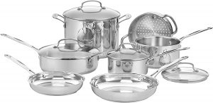 Cuisinart 77-11G Chef's Classic Stainless Cookware Set