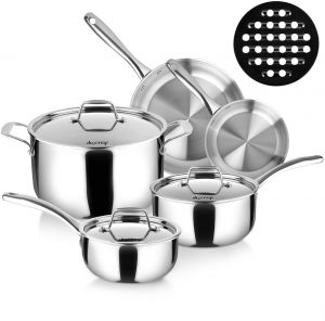 Duxtop Tri-ply Stainless Steel Cookware Set
