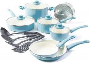 Greenlife's 15-piece Non-stick Induction Cookware Set