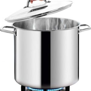 HOMI CHEF Commercial Grade LARGE STOCK POT
