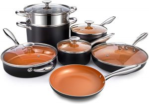 Michelangelo Copper Non-stick Cookware Set