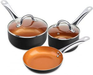 Shineuri's Copper Non-stick Cookware Set
