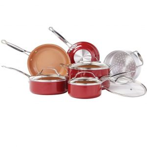 BulbHead Copper 10pc Non-Stick Cookware Set
