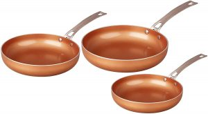 Concord Cookware's 3-piece Copper Frying Pan Set