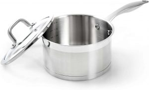 Duxtop's Professional Stainless Steel Saucepan With Lid