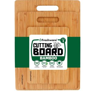 Freshware Bamboo Best Wooden Cutting Board