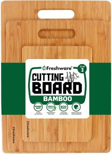 Freshware Cutting Boards [Bamboo, Set of 3]