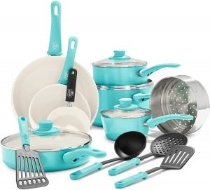 GreenLife Soft Grip Ceramic Non-Stick Cookware Set