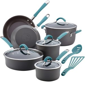Rachael Ray Cucina Hard-Anodized Nonstick Cookware Set