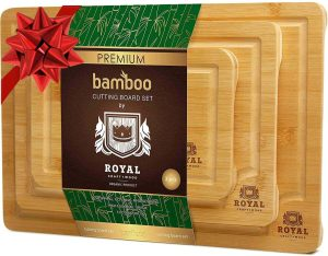 Royal Craft Bamboo Cutting Board Set