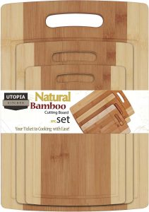 Utopia Kitchen 3 Piece Bamboo Cutting Boards