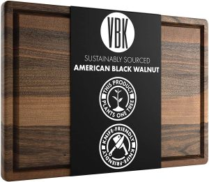 Virginia Boys Dark Walnut Wood Cutting Board