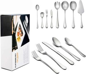 Lianyu 68-Piece Silverware Set with Serving Pieces