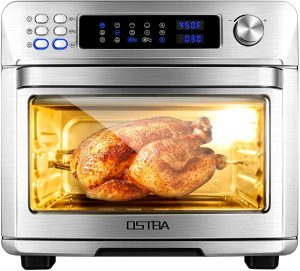 OSTBA Air Fryer Oven 26 Quart 10-in-1 Convection Toaster Oven