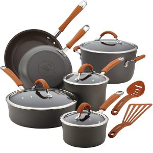 Rachel Ray Cucina Dishwasher Safe Pots and Pans Set